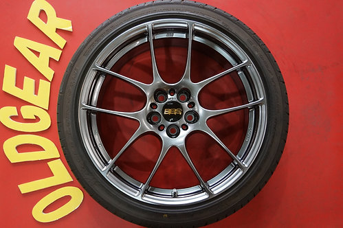 D 美品 2018年製タイヤ バリ山 BBS RF RF511 18インチ 86 BRZ インプレッサ レガシィ プリウス ウィッシュ