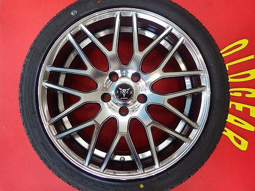送料無料 未使用 WORK ワーク レイバー M009 19 5H120 8.5J+36 4本セット 新品タイヤ 245/40R19 BMW 5シリーズ F10