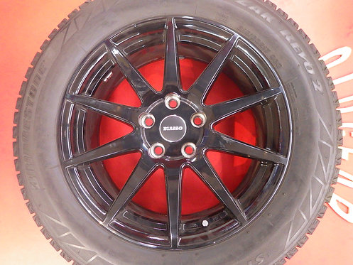 バリ山 ほぼ新品 BIASSO BI-01 グロスブラック 17インチ ブリジストン ミニ クロスオーバー F60 BMW X1 F48 純正ボルト対応