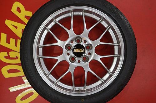 D 美品 バリ山 BBS RG-R RG738 RG739 18インチ クラウン エスティマ オデッセイ マークX