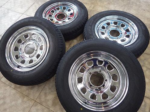 未使用 デイトナ クローム メッキ 16インチ 4本セット CF2 SUV スズキ ジムニー JB23 即納可能