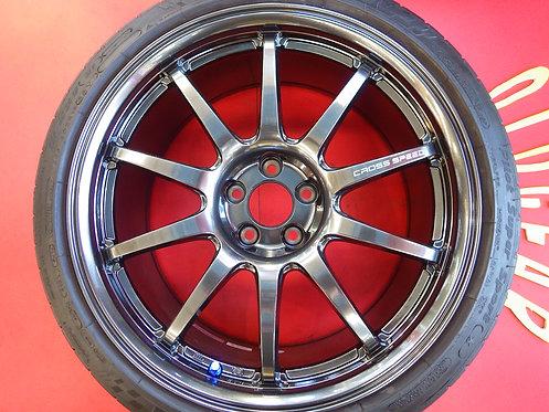 軽量 クロススピード CR10 ガンメタ 18インチ 4本セット パイロットスーパースポーツ GT-R R34 R33 R32 チェイサー シルビア