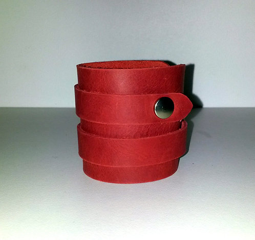 Bracelet rouge double- pressions