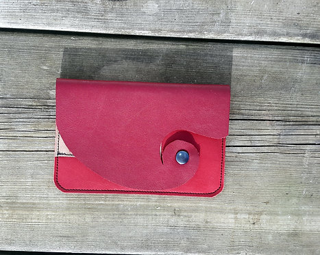 pochette tabac rouge avec étui feuilles