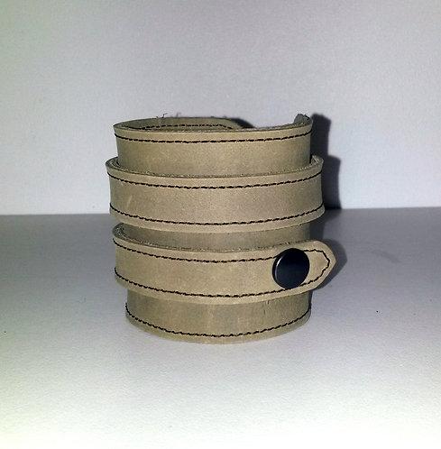 Bracelet beige double- pressions