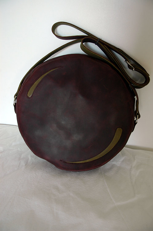 Rodela violet foncé - motif virgule kaki