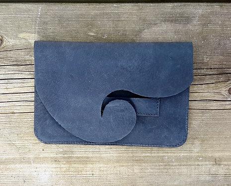pochette tabac bleu f. avec étui feuilles