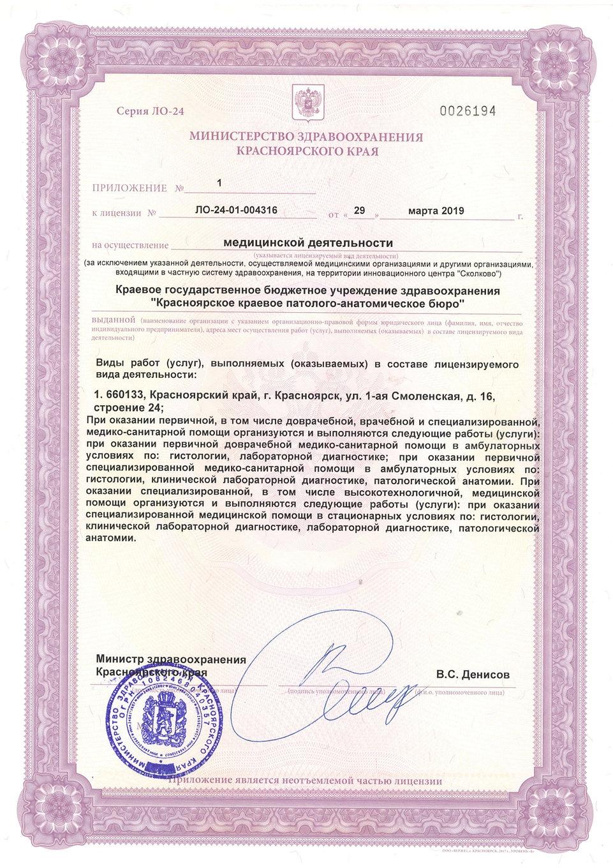 Лицензия от 29.03.2019 №ЛО-24-01-004316_
