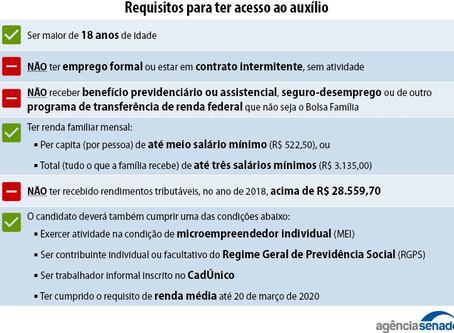DO AUXÍLIO EMERGENCIAL AOS AUTÔNOMOS, PROFISSIONAIS LIBERAIS E MICROEMPREENDEDORES INDIVIDUAIS