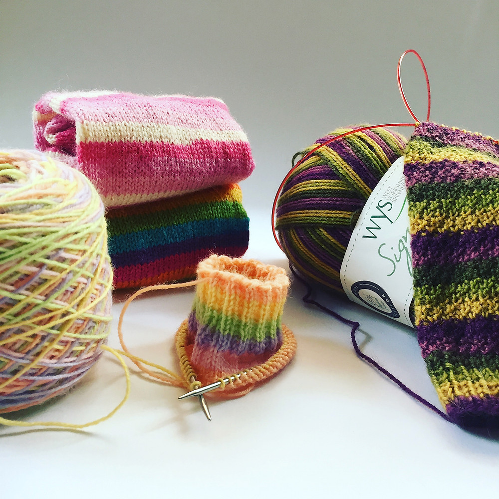 knitting projects on needles