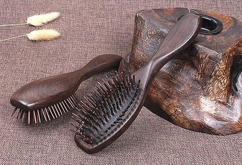 Sandalwood Comb Hair Brush Wooden Hair Care Spa Massage Comb Antistatic Comb J19