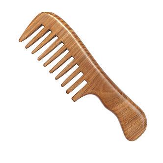 Peine ancho madera sandalo especial rizos metodo Péinate Tú