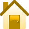 House icon - amber colours