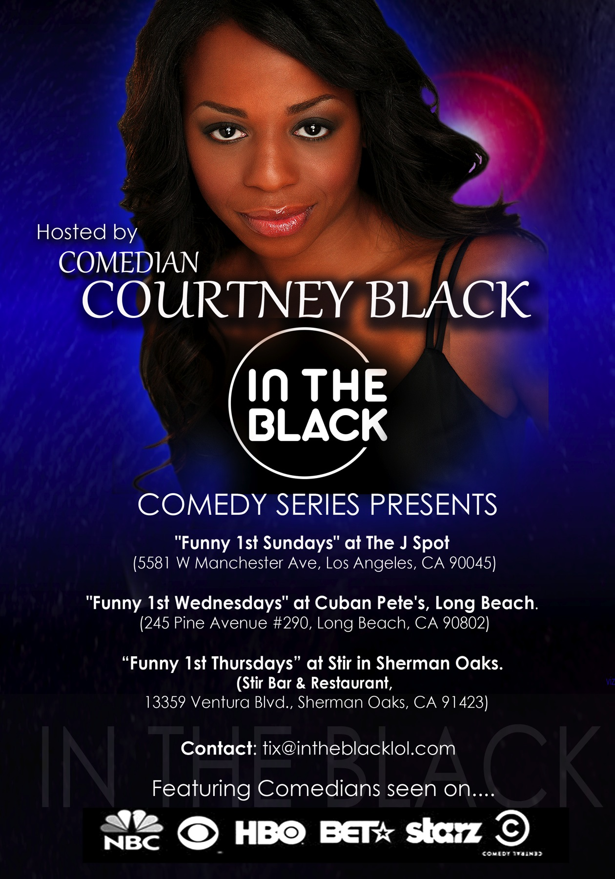 """In The Black"" Comedy Series...."