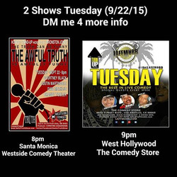 2 Shows Tuesday 9/22/15