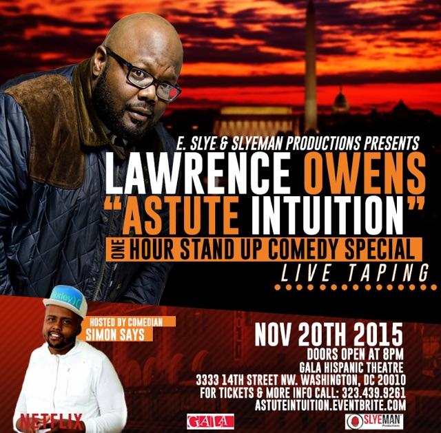 I'm opening up for Lawrence Owens...