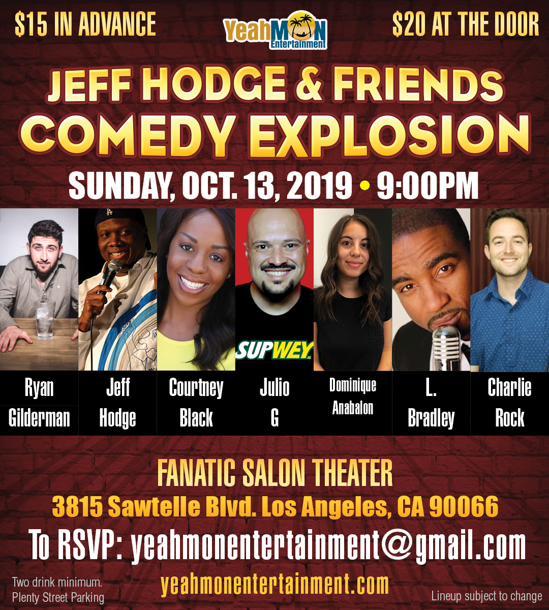 Jeff Hodge & Friends Comedy Explosio