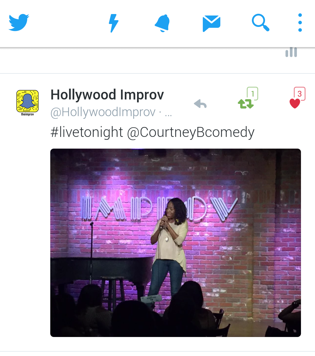 @HollywoodImprov tweet....