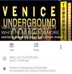 I'm performing in Venice, CA