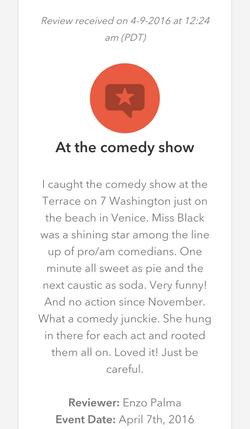 Comedy Review April 2016