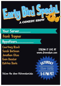 Earlybird Comedy Show 11/19/16