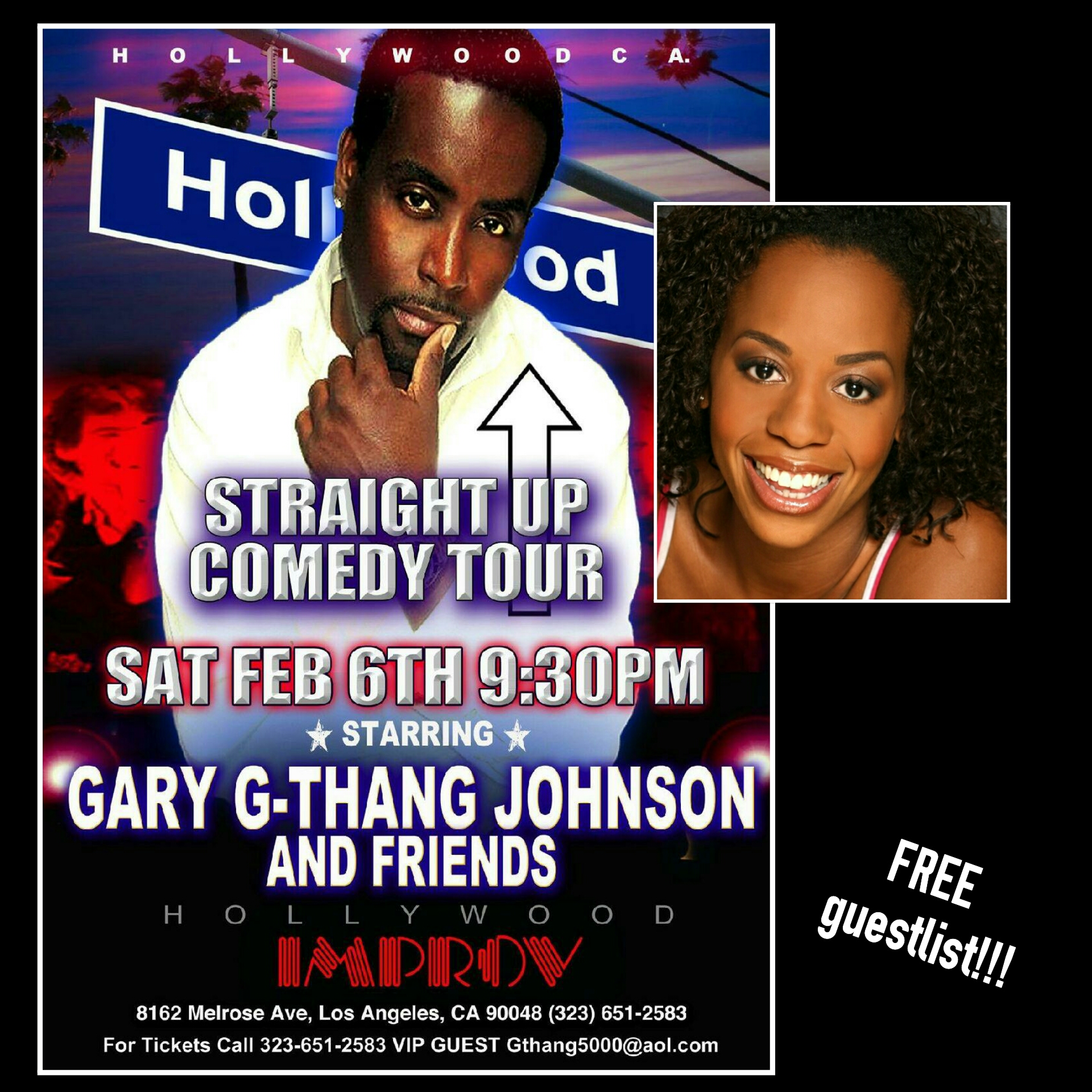 Saturday I'm @ The Hollywood Improv!