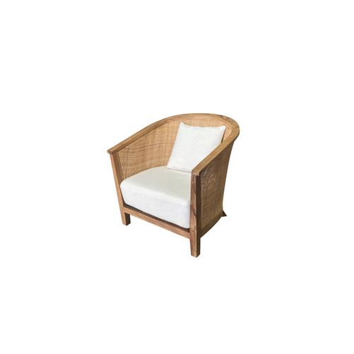 Cane Chair White Canvas