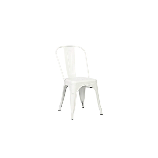 Off-White Metal Chair