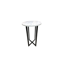 Industrial High Table (Marble Mica)