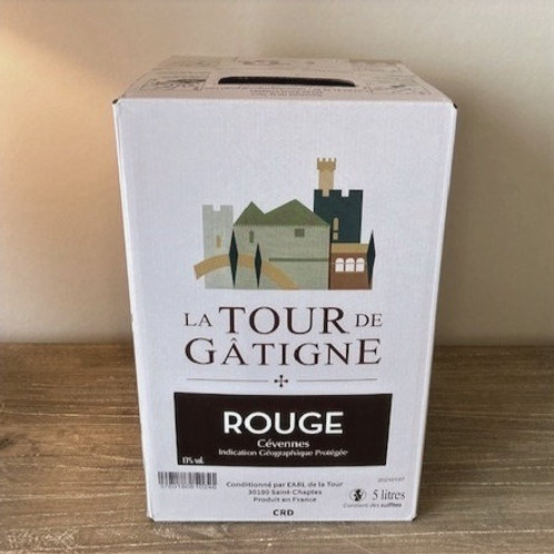 Rood Grenache & Syrah - IGP Cévennes  - Bag-In-Box 5 liter