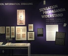 500 Jahre Flugblatt | tecton Ausstellungsdesign
