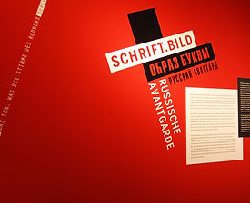 SchriftBild. Russisch Avantgarde | tecton Ausstellungsdesign