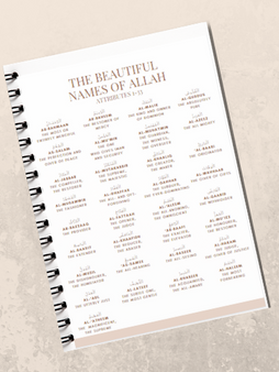 The Beautiful Names of Allah (SWT)