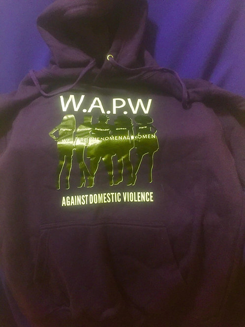 Long Sleeve Purple Hoodie Sweatshirt
