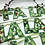 Thumbnail: Christmas bunting Fa La La La La - fabric & reusable
