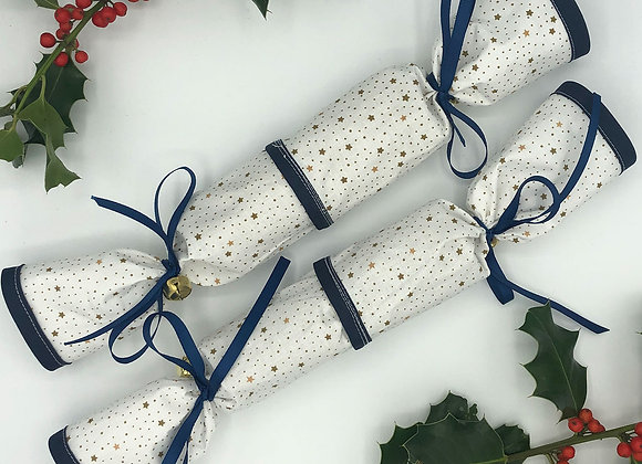 Christmas Crackers set of 2 - Gold Stars