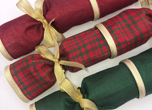 Deluxe Crackers Set of 6 - Fabric, reusable, refillable and pullable.