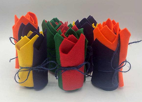 Reusable felt hats - Great for Christmas crackers!