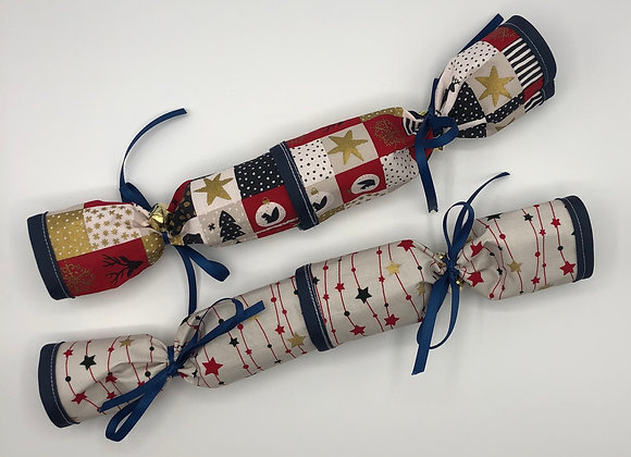 Christmas Crackers set of 2 - Patchwork Red