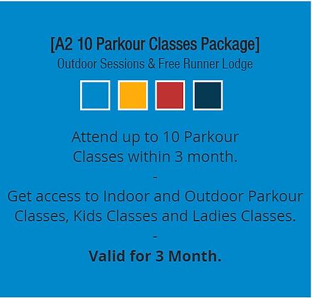 A2 10 Parkour Classes Package