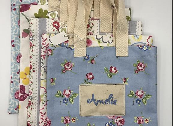 Personalised mini shopping bags