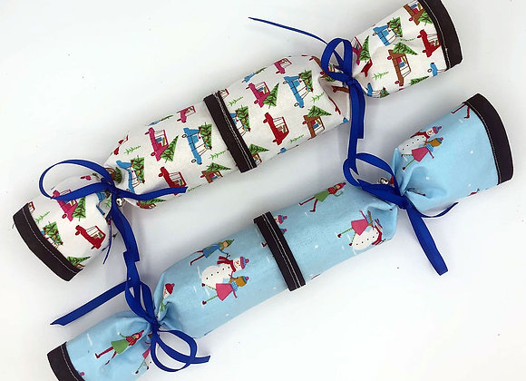 Christmas Crackers set of 2 -Snowmen and People
