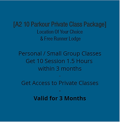 A2 10 Private Parkour Class Package