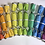 Thumbnail: Rainbow Fabric Party Crackers - Pullable, Reusable, Refillable - Set of 6
