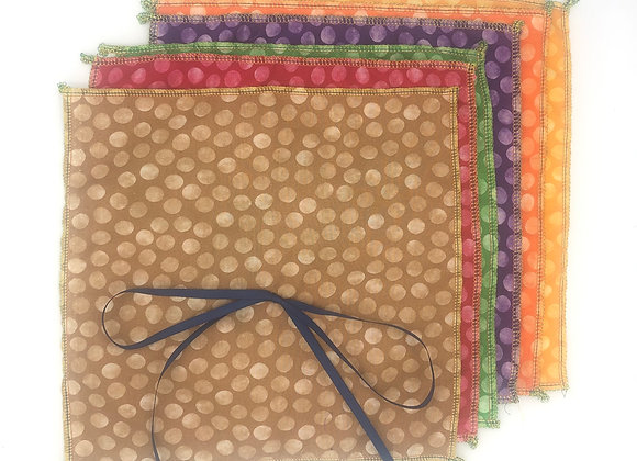 Reusable fabric gift wraps- sets of 4