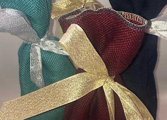 Hessian bottle gift bags - reusable