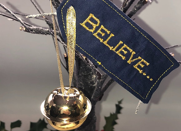 Believe bell Christmas decoration