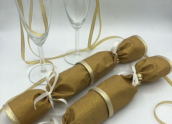 Gold Glitter Crackers - Wedding anniversaries, birthdays, Christmas