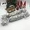 Thumbnail: Christmas Crackers set of 2 Scandi fabrics - Snowflakes in grey