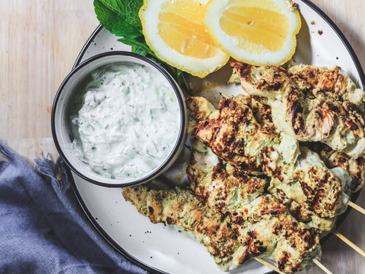 Yoghurt Marinated Grilled Chicken with Tzatziki